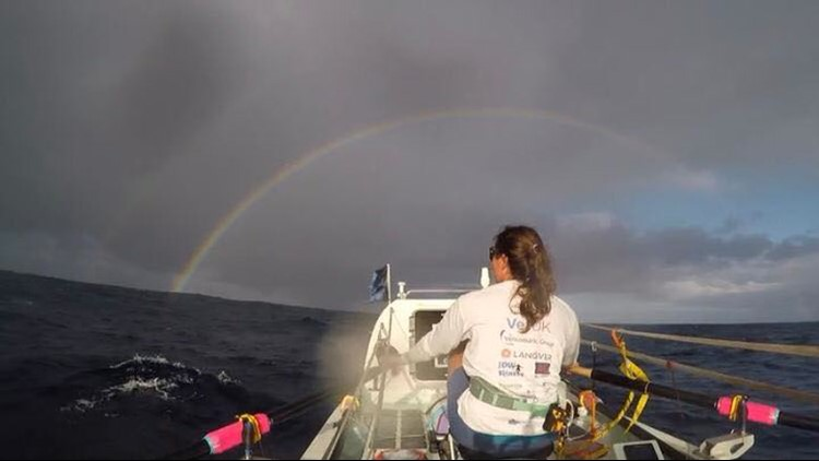 'Every single day the weather was different' says historic solo rower