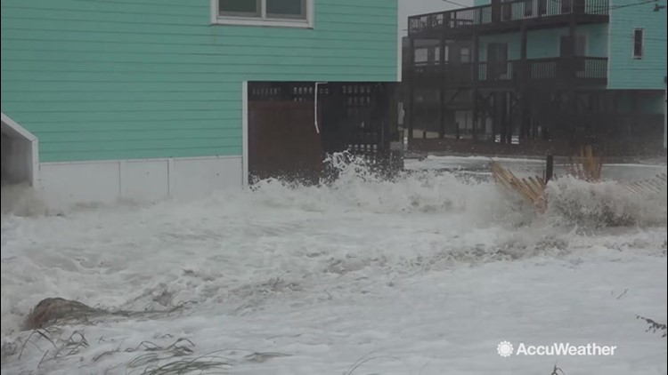 Strong storm flooding parts of the Outer Banks