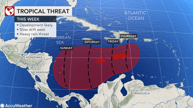 Developing tropical system could worsen disaster in Central America caused by Eta