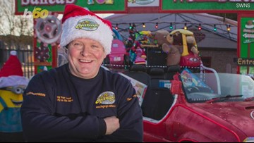 Forget the Reindeer, Mechanic Transforms Car Into Santa's Sleigh