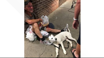 Watch the heartwarming moment this homeless man is reunited with his dog