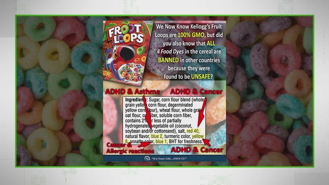 VERIFY: No, Froot Loops dyes haven't been linked to cancer or asthma