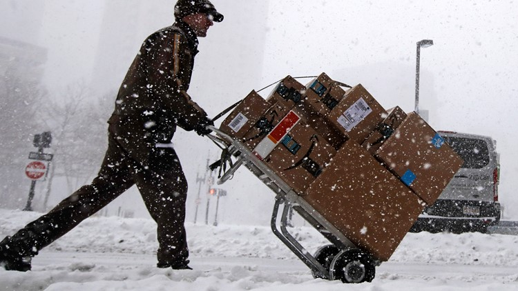 Winter Weather Massachusetts UPS