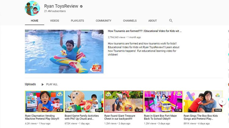 Ryan ToysReview accused of deceiving preschoolers with paid content
