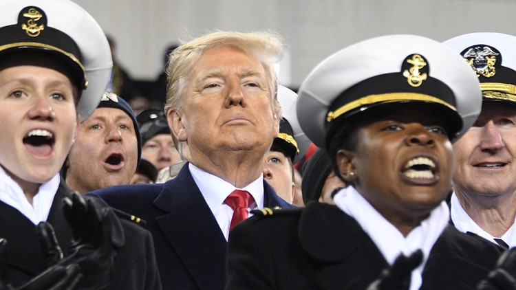 army navy trump