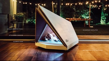 Ford designs noise-canceling dog kennel to block out holiday fireworks, thunder noise