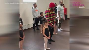 Daddy-daughter ballet class