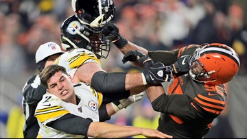 Browns' Myles Garrett suspended 'indefinitely' after swinging helmet at QB's head