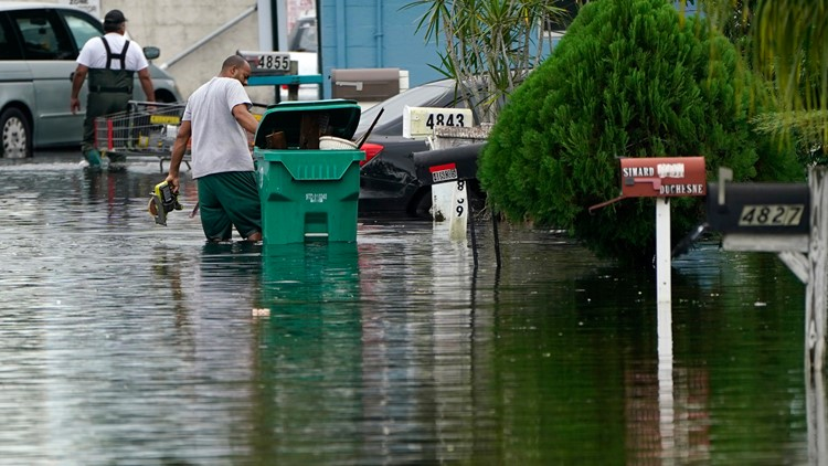 Eta weakens again to a tropical storm as Florida prepares for 2nd hit