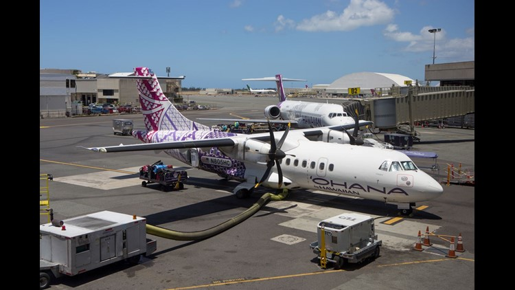 Hawaiian Airlines says Tropical Storm Olivia is prompting the cancellation of Wednesday's flights on its commuter airline, Ohana by Hawaiian.