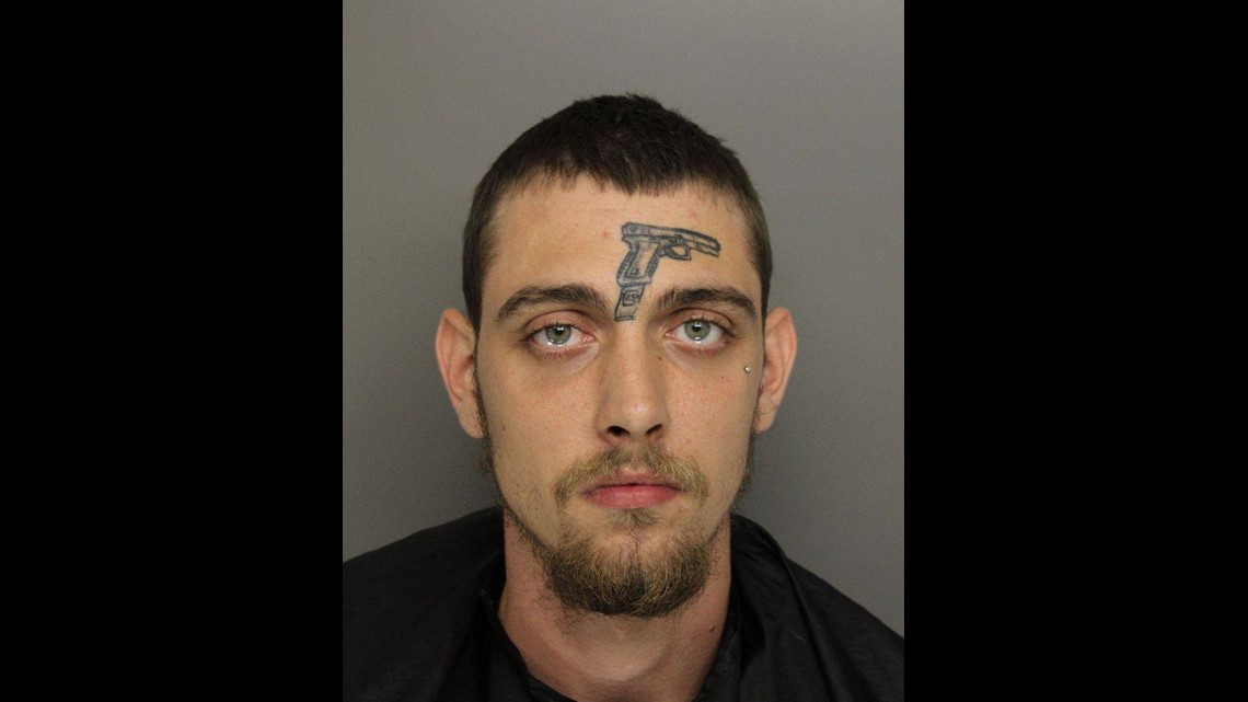 13newsnow.com | Man with a tattoo of a gun on his face