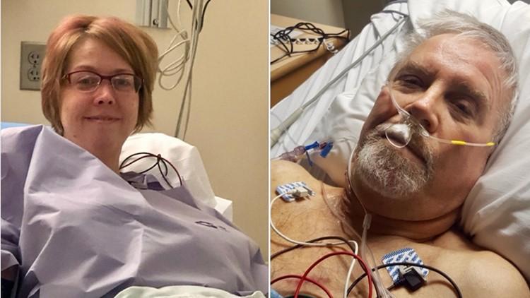 Becca Bundy and Bill Cox at University of Minnesota Medical Center.