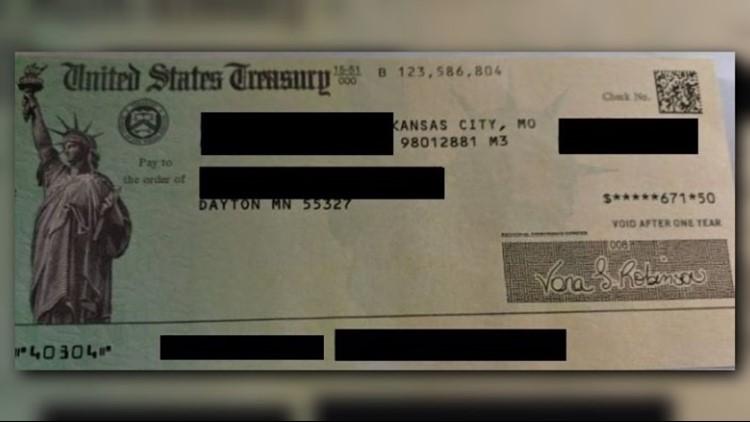 VA Home Loan refund check