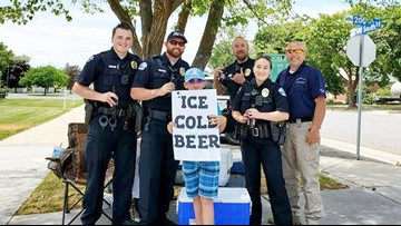 Boy's 'ice cold beer' stand prompts calls to police