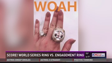 Score! Upton's wedding ring vs. World Series ring