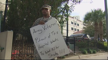 'I'm more than qualified': Army veteran stands outside of hospital begging for work