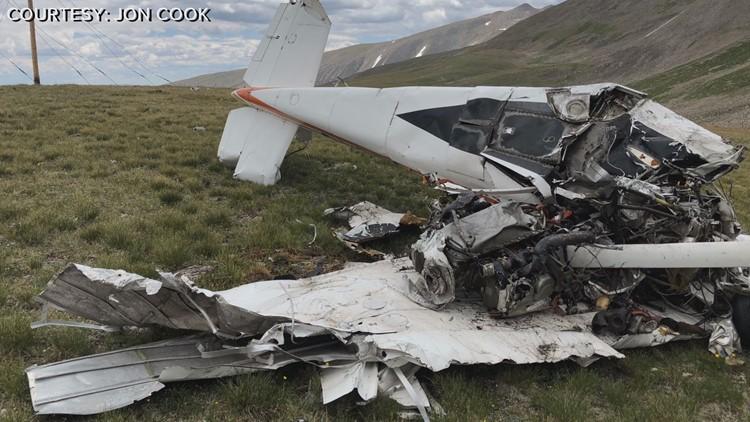 Photos: Four-wheelers find plane crash wreckage in Colorado mountains