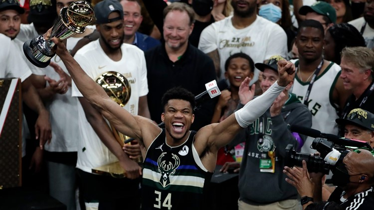 Watch: Giannis Antetokounmpo hilariously asks for free Chick-fil-A after NBA Finals win