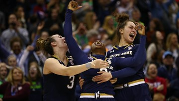 Notre Dame wins championship with last-second three-pointer