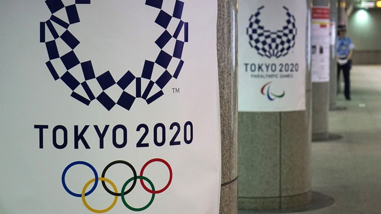 Tokyo 2020 games signs