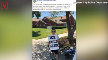 Utah Boy Selling 'ICE COLD BEER' Caught The Attention of Local Police