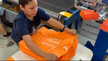 'It's an absolute movement' | With more than 71,000 orders to fill, there's no slowing down for company producing boy's UT shirt design