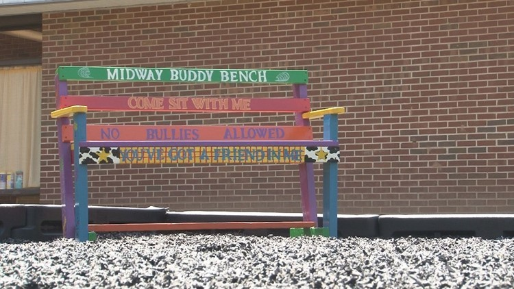 Elementary school's buddy bench encourages kindness and inclusion