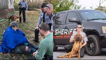 'He was found extremely cold' | K-9 quickly locates missing elderly man