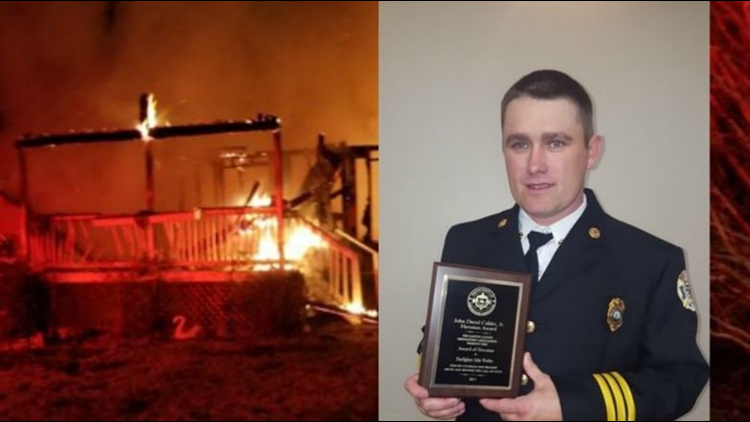 He saved a fellow firefighter trapped in a burning building. For his heroic efforts, he won a new car.