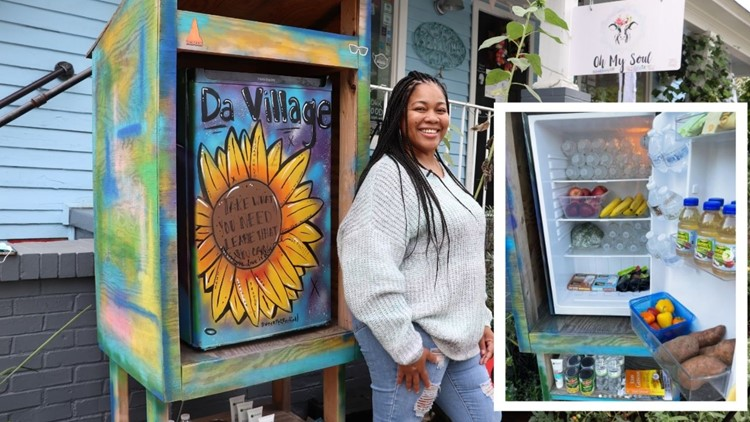 This NoDa community fridge gives people in need access to free, healthy food
