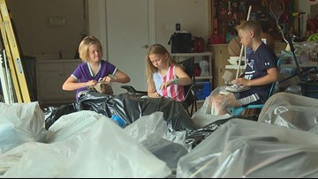 Siblings spend summer learning the value of giving back: Shoe drive helps kids across the world