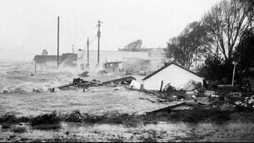 October 15, 1954 | Historic Hurricane Hazel slams NC coast, obliterates parts of Oak Island