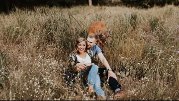 Picture Perfect | Deer does a deer thing--photobombs engagement shoot