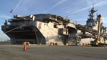 11 sailors injured after USS Iwo Jima catches fire at Naval Station Mayport