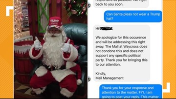 Trump-hat-wearing Santa pulled from Georgia mall; 'This particular Santa will be replaced'