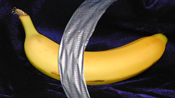 Banana draped with duct tape sells for $150,000 at Florida art show
