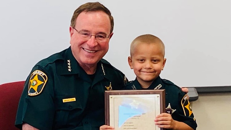 Florida preschooler fighting cancer becomes honorary deputy for a day