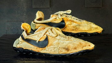 Homemade Nikes used in 1972 sell for $50,000