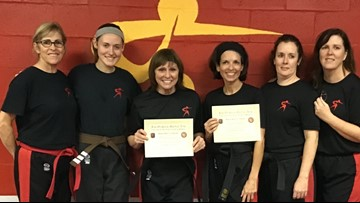 61-year-old earns black belt after beating cancer twice