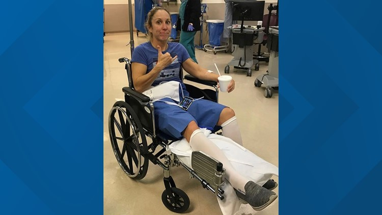 Christine in wheelchair