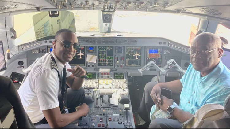 Pilot shares first flight with dad on Father's Day