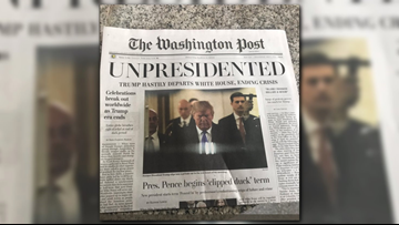 VERIFY: Activists are handing out fake Washington Post newspapers describing the end of the 'Trump Era'