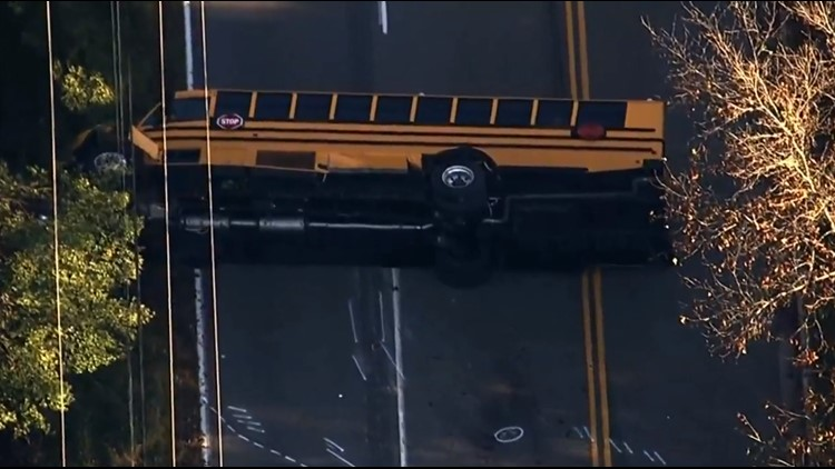 4 injured after School bus crash with 11 kids on board in Anne Arundel Co