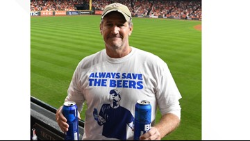 You can now buy a shirt memorializing our beloved Game 5 beer hero, Jeff Adams