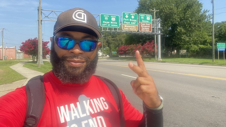 Retired soldier walking 1,800 miles for suicide prevention