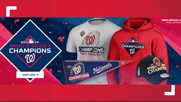 This is where you can get your official World Series Nationals gear