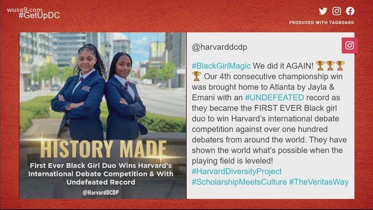 Black girl debate duo makes Harvard history | Get Uplifted