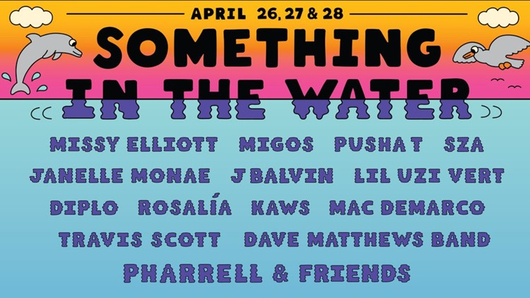 Everything you need to know about all the performers at 'Something in the Water'
