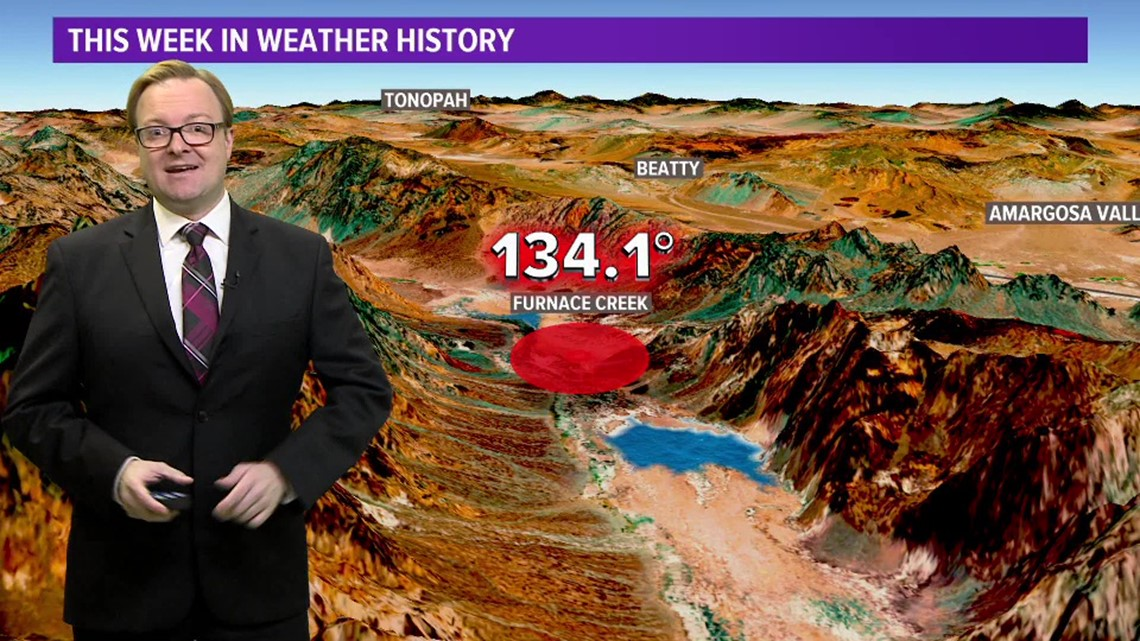 This Week in Weather History: July 10, 1913 - the hottest temperature on  record