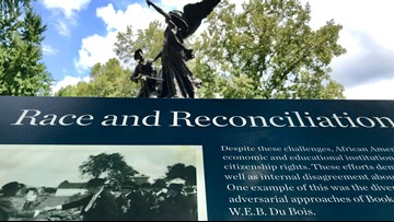 Markers recalling South's racist past placed near monuments